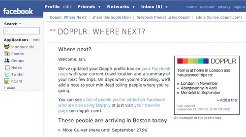 Facebook and Dopplr united at last