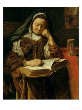 Old Woman Sleeping, Cornelis Bisschop