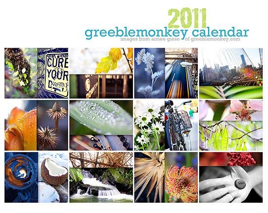 2011 Greeblemonkey Calendar!