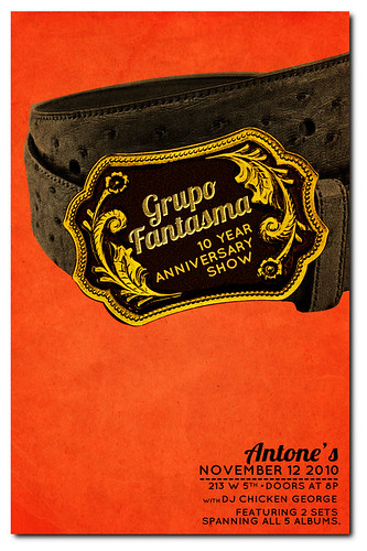 Grupo Fantasma 10 Year Anniversary Poster