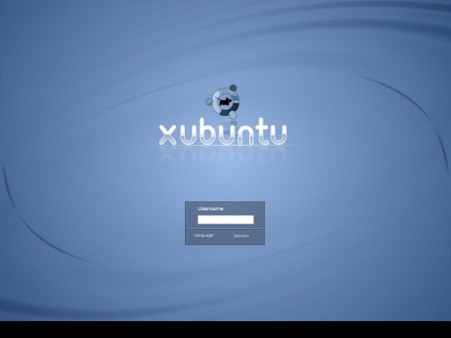 Xubuntu Gutsy Gibbon - potential login screen