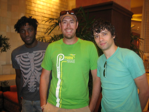 Jason with members of Bloc Party - Austin City Limits, 2007