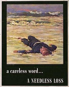 WW2 Poster A Careless Word A Needless Loss