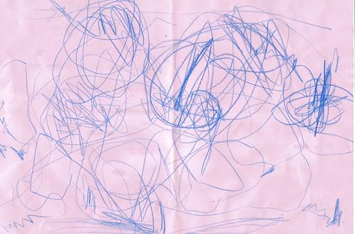 Half birthday - butterfly drawing