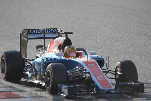 Rio Haryanto in Formula One Winter Testing 2016