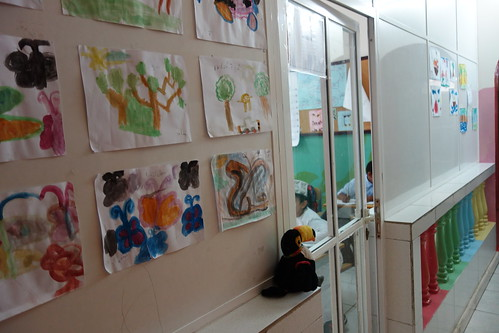 """À côté, le bâtiment pour les """"petits"""", de la maternelle au CE2."""