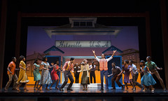 """Julius Thomas III (Berry Gordy) and the company of the Broadway Sacramento presentation of """"Motown The Musical"""" at the Sacramento Community Center Theater May 18 – 29, 2016. Photo by Joan Marcus."""