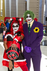 "Harley and the Joker! #C2E2 #cosplay • <a style=""font-size:0.8em;"" href=""http://www.flickr.com/photos/33121778@N02/25999050865/"" target=""_blank"">View on Flickr</a>"