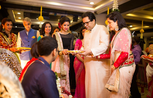 Sealing the engagement with the blessings of family!