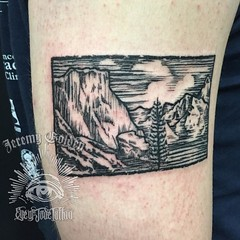 Tribute to time well spent in Yosemite for @kkaveh12. #eyeofjadetattoo #eyeofjade #jeremygolden #jeremy_golden #jeremygoldentattoo #yosemite #yousemitetattoo