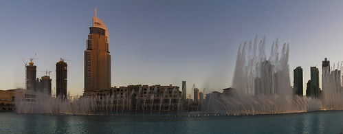 Dubai Fountains - sunset