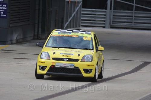 Richard Kemp in the BRSCC Fiesta Championship at Silverstone, April 2016