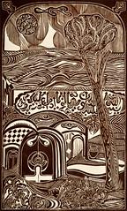 F. DE MARINIS_Quell'albero Mediterraneo era ancora vivo come simbolo di illusione e di speranza, xilografia, 2014