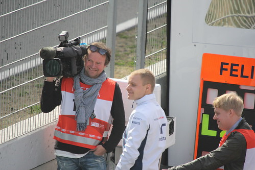 Valtteri Bottas on the pit wall at Formula One Winter Testing 2016
