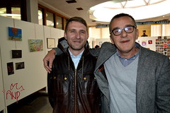 Bujar and Agim in Exhibition