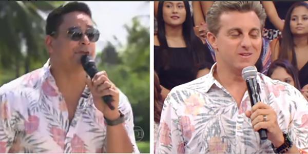 Huck e Xandy, do Harmonia, usam camisas parecidas e viram piada na web