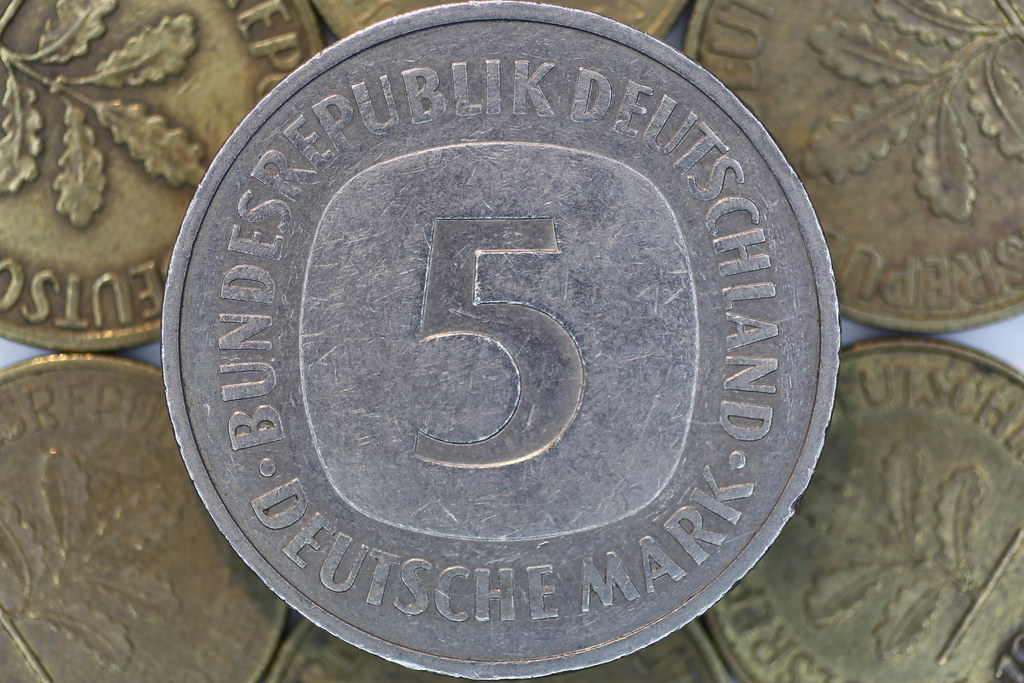 Funf Mark Five German Mark Coin Pascal Volk Tags Money