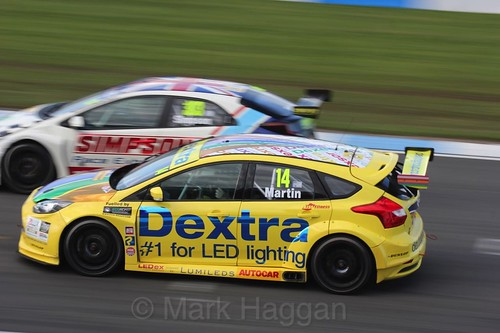 Alex Martin during the BTCC Weekend at Donington Park, April 2016