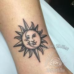 The OL' Sun/ Moon. #eyeofjadetattoo #eyeofjade...