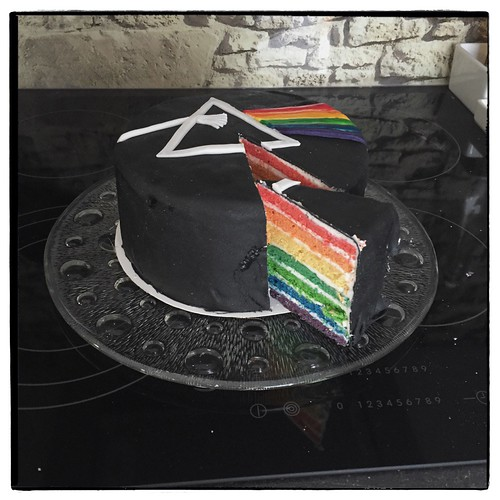 """Dark Side of the Moon Cake • <a style=""""font-size:0.8em;"""" href=""""http://www.flickr.com/photos/92578240@N08/25838311122/"""" target=""""_blank"""">View on Flickr</a>"""