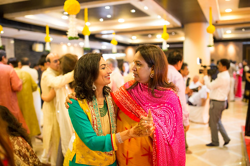 Shivani's mom enjoying the moment!
