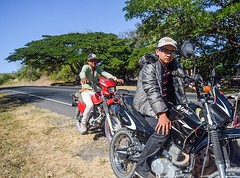 Biker boys were much friendlier than their scowls, even spoke decent English. #theworldwalk #travel #nicaragua
