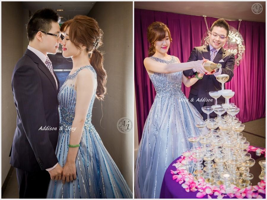 新秘Yuki│新秘推薦│藍色禮服│低馬尾│韓系│新娘髮型