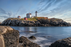 """Nubble Light, Cape Neddick, Maine • <a style=""""font-size:0.8em;"""" href=""""http://www.flickr.com/photos/19514857@N00/26009201986/"""" target=""""_blank"""">View on Flickr</a>"""