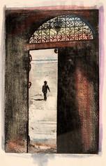 A. BEGHELLI_Silenzio, acquaforte e acquatinta (riporto ad acquerello), 1985