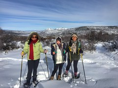 Snowshoeing!  :)  Black Canyon of the Gunnison National Park