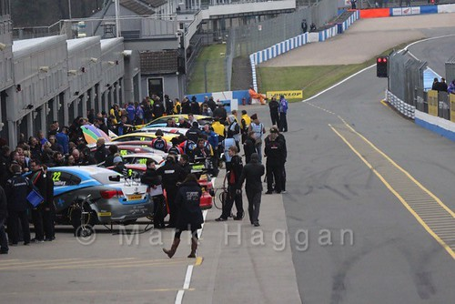 The pit lane during the BTCC Media Launch Event 2016