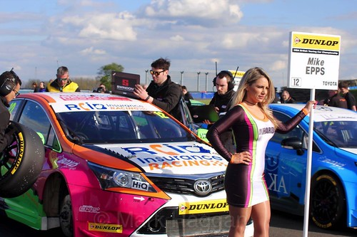 Mike Epps during the BTCC Donington Weekend, April 2016