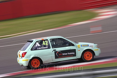 John Bateman in the BRSCC Fiesta Championship at Silverstone, April 2016