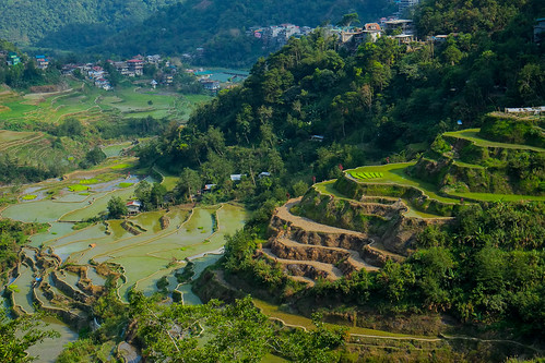 Late afternoon. Banaue viewpoint