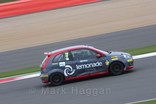 Cameron Pugh in the BRSCC Fiesta Junior Championship at Silverstone, April 2016