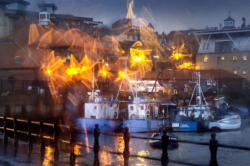 Fish Quay in the rain, Sunderland