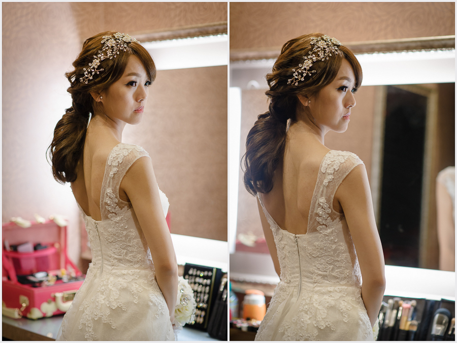 新秘Yuki│新秘推薦│白紗│低馬尾│韓系│新娘髮型