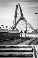 Biking across the river