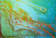 P. PECORELLA_Stabat mater, processi combinati (acquaforte, vernice allo zucchero), stampa calcografica a colori simultanei, 2012