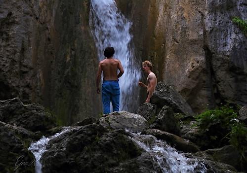 People Waterfall Summer /Emberek Vízesés Nyár