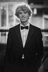 My son is going to his graduation gala                          #trotsevader Daar gaat ie naar 't eindgala gymnasium