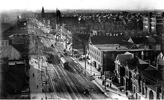 Toronto's College St looking west towards Bathurst St from Fire Station Clock Tower, 1908