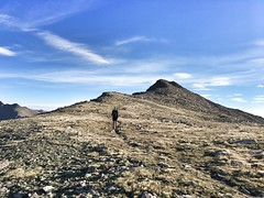 Approaching the final pitch to the summit