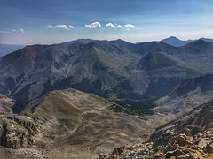Looking east from the Huron Peak summit