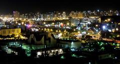 Iran night city skyline - Tabriz