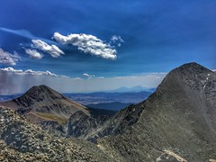 On summit looking towards Mt Lindsey (L) and Blanca Peak (R)