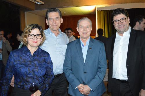 Elvira Nascimento, Mário Carvalho Neto, José Maria Facundes, pres. do Sindcomércio, e Luís Márcio Araújo