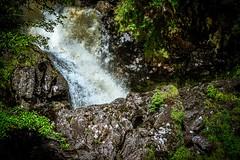 Detail of Eas Chia-aig falls, Fort William, Scotland
