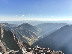 View to the northeast (of Maroon Lake) from the summit of Maroon Peak