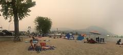 Am Sandstrand in Penticton - Dank den Rauch ist es nicht so heiss😂